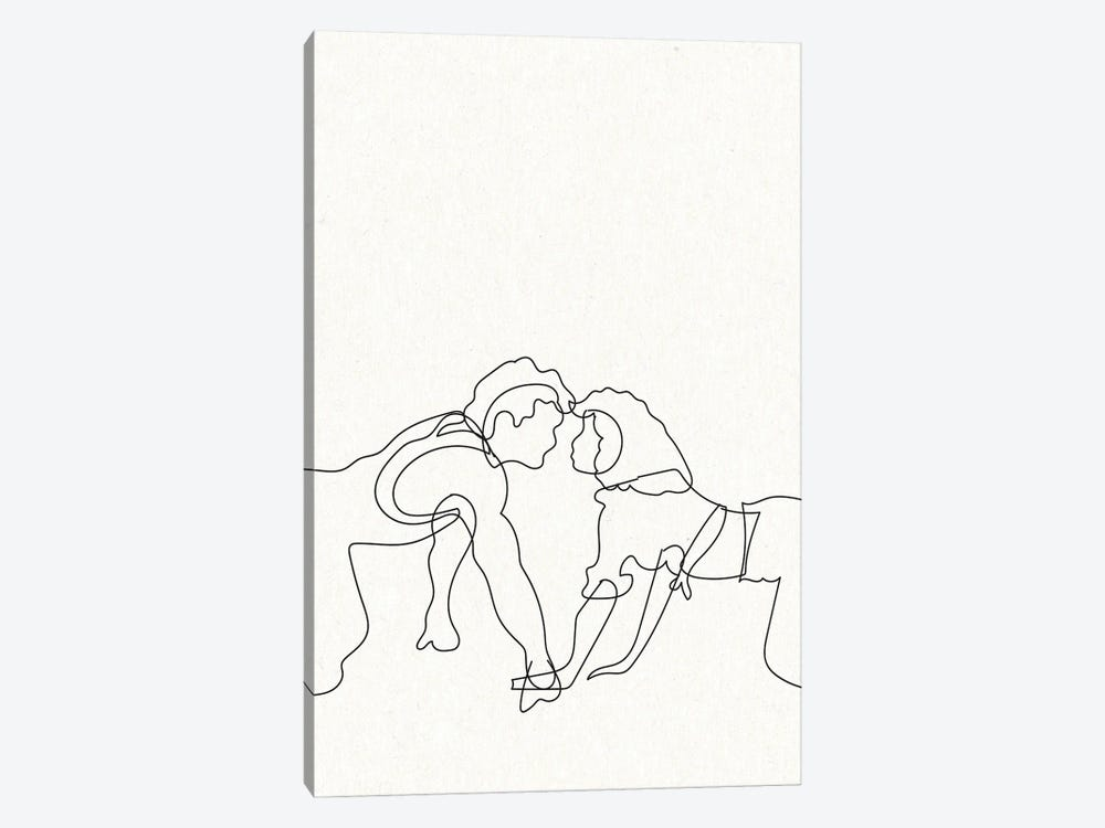 Dirty Dancing Outline by Mambo Art Studio 1-piece Canvas Artwork
