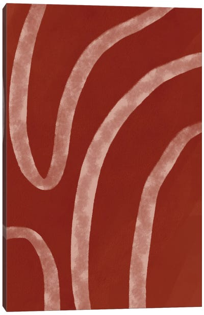 Abstract Terracota Shapes Canvas Art Print