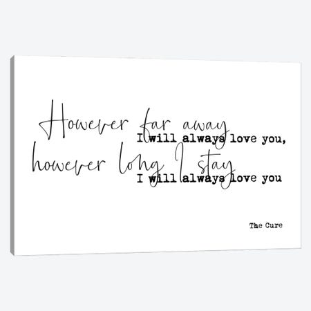 Love Song Lyrics Canvas Print #MSD122} by Mambo Art Studio Canvas Print