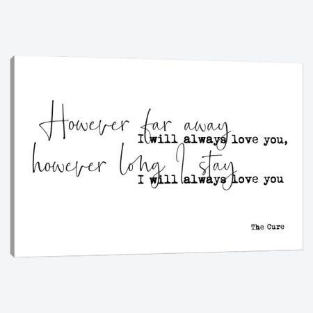 Love Song Lyrics Canvas Print #MSD122} by Mambo Art Studio Canvas Print