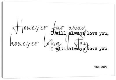 Love Song Lyrics Canvas Art Print