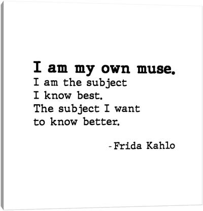 Muse By Frida Kahlo Canvas Art Print