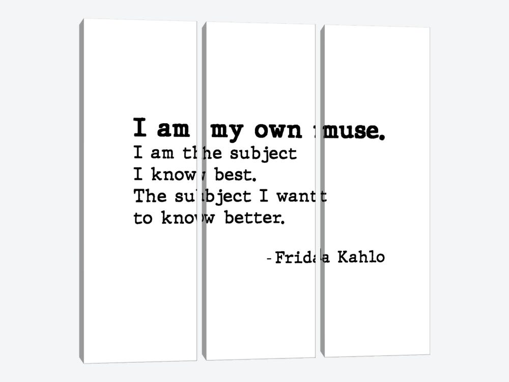 Muse By Frida Kahlo by Mambo Art Studio 3-piece Canvas Print