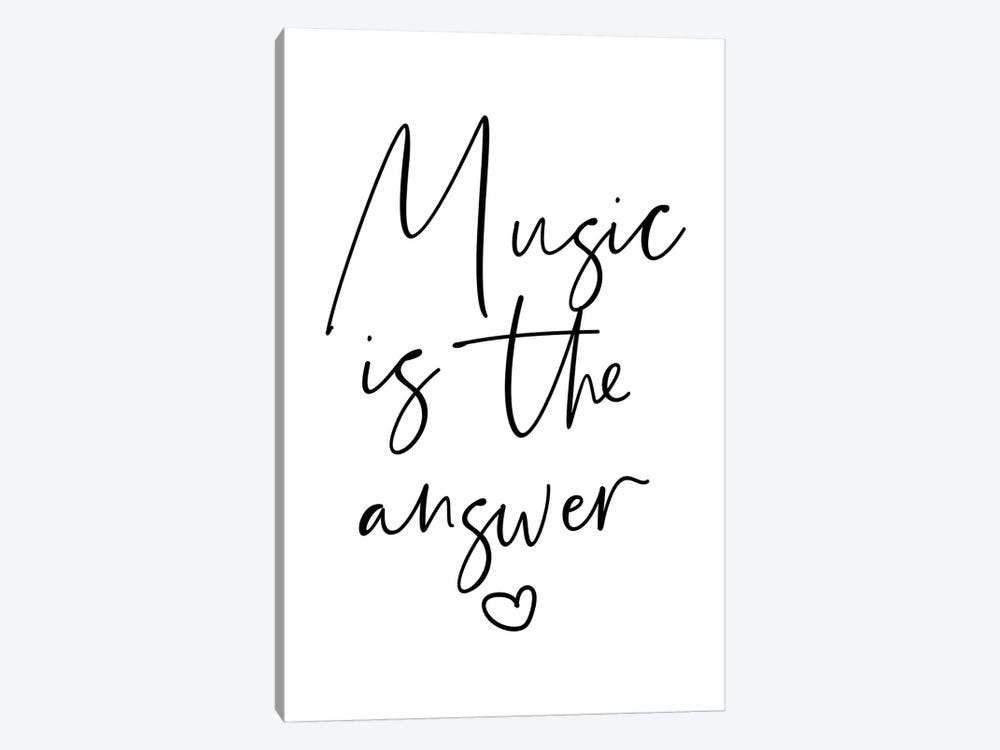 Music is The Answer by Mambo Art Studio 1-piece Canvas Artwork