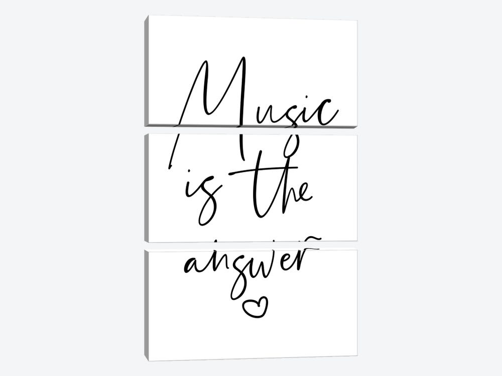 Music is The Answer by Mambo Art Studio 3-piece Canvas Artwork