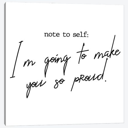 Note to Self Canvas Print #MSD126} by Mambo Art Studio Canvas Wall Art