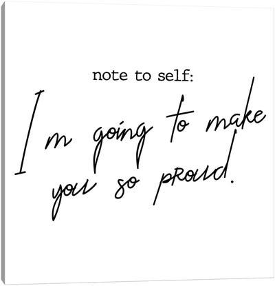 Note to Self Canvas Art Print