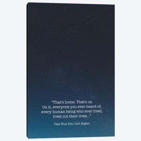Pale Blue Dot Carl Sagan Canvas Print #MSD127} by Mambo Art Studio Canvas Art