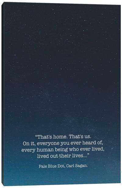 Pale Blue Dot Carl Sagan Canvas Art Print