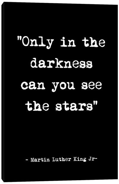 See the Stars Quote Canvas Art Print
