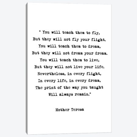 Dream - Mother Theresa Quote Canvas Print #MSD15} by Mambo Art Studio Art Print