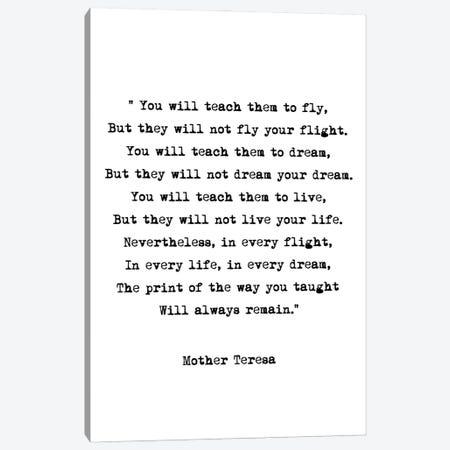Dream - Mother Theresa Quote Canvas Print #MSD15} by Mambo Art Studio Art Print