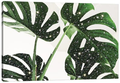 Glitter Monstera Canvas Art Print
