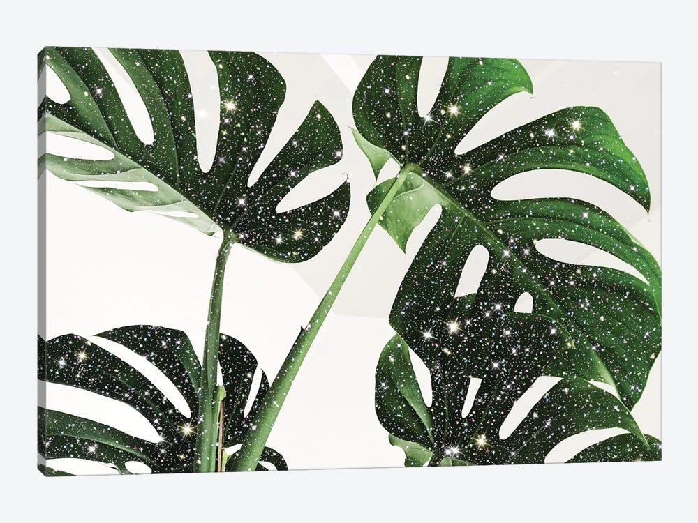Glitter Monstera by Mambo Art Studio 1-piece Art Print