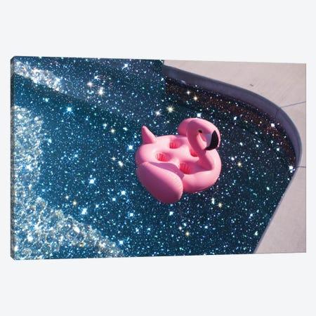 Glitter Summer Pool Canvas Print #MSD19} by Mambo Art Studio Canvas Wall Art