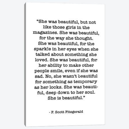 Fitzgerald Quote Canvas Print #MSD1} by Mambo Art Studio Canvas Art Print