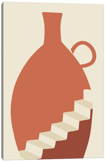Going Up Boho Vase Canvas Art Print