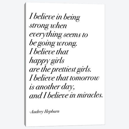 Happy Girls by Audrey in Serif Font Canvas Print #MSD21} by Mambo Art Studio Canvas Art Print