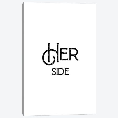 Her Side Canvas Print #MSD25} by Mambo Art Studio Canvas Art