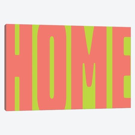 Home Green Fluo Canvas Print #MSD29} by Mambo Art Studio Canvas Art Print