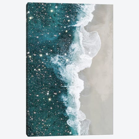 Glitter Aerial Beach Canvas Print #MSD2} by Mambo Art Studio Art Print