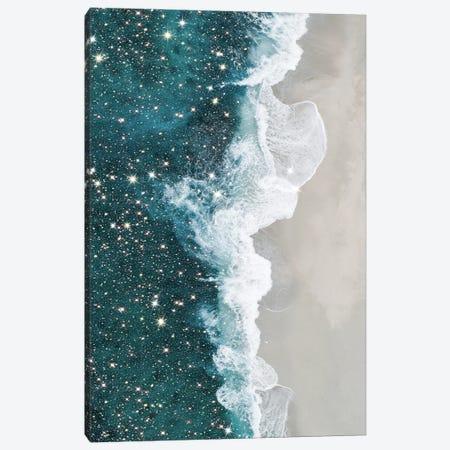 Glitter Aerial Beach Canvas Print #MSD2} by Mambo Art Studio Art Print