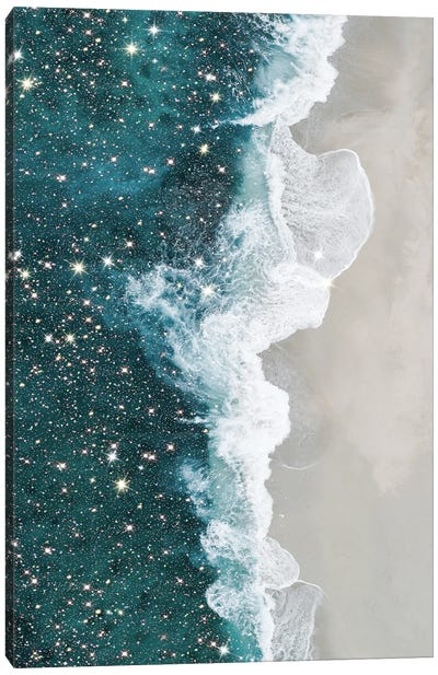 Glitter Aerial Beach Canvas Art Print