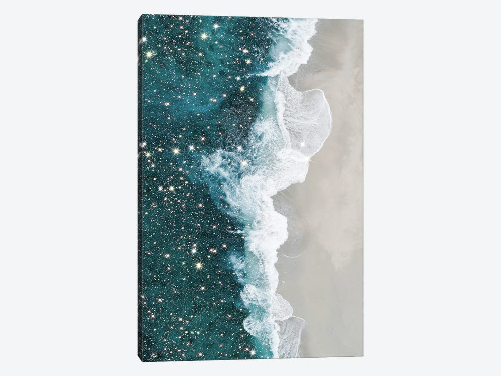 Glitter Aerial Beach by Mambo Art Studio 1-piece Canvas Art Print