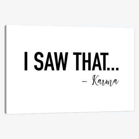 I saw That by Karma Canvas Print #MSD30} by Mambo Art Studio Canvas Art