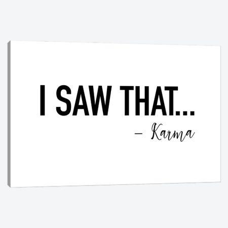 I saw That by Karma Canvas Print #MSD30} by Mambo Art Studio Canvas Art