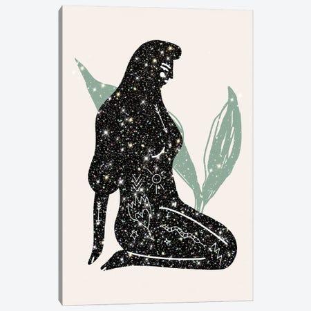 Lady Universe Glitter Canvas Print #MSD34} by Mambo Art Studio Art Print