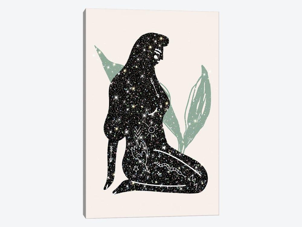Lady Universe Glitter by Mambo Art Studio 1-piece Canvas Art Print