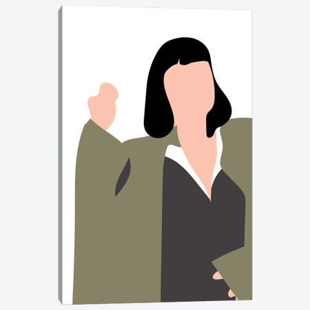 Mia Pulp Fiction Canvas Print #MSD37} by Mambo Art Studio Canvas Print