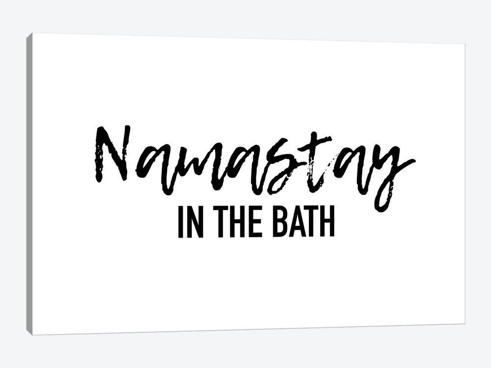 Namastay in the bath by Mambo Art Studio 1-piece Canvas Artwork