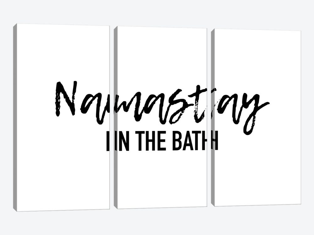Namastay in the bath by Mambo Art Studio 3-piece Canvas Art