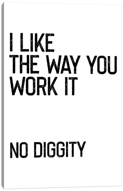 No Diggity Canvas Art Print
