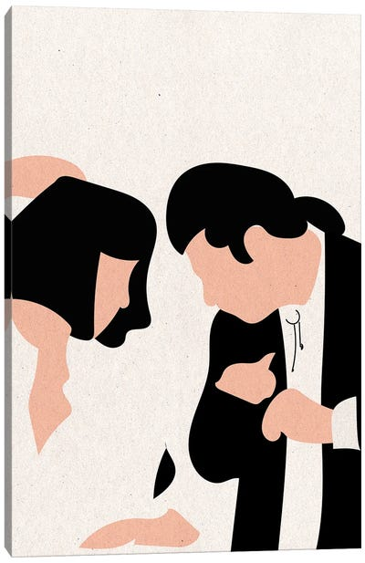 Pulp Fiction Dance Texture Canvas Art Print