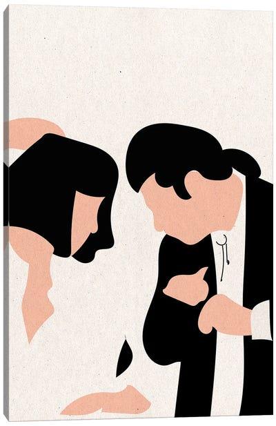 Pulp Fiction Dance Texture Canvas Art Print