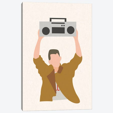 Say Anything Boombox Canvas Print #MSD50} by Mambo Art Studio Canvas Artwork