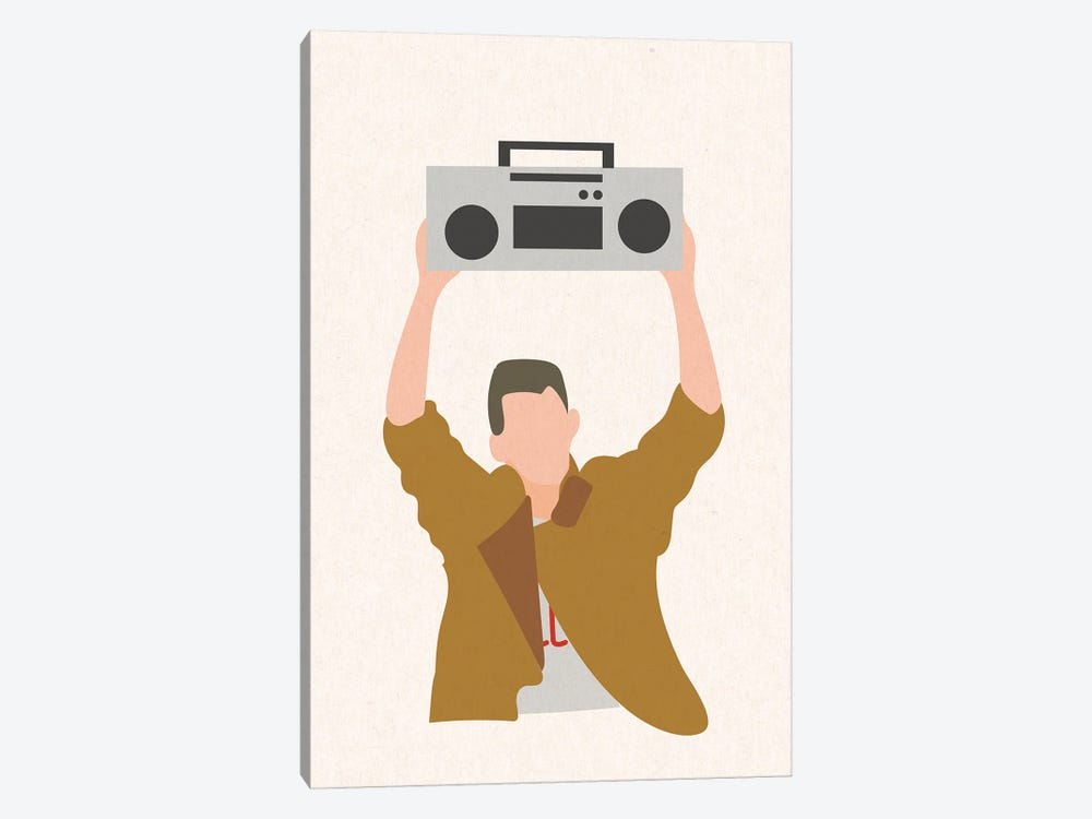 Say Anything Boombox by Mambo Art Studio 1-piece Canvas Print