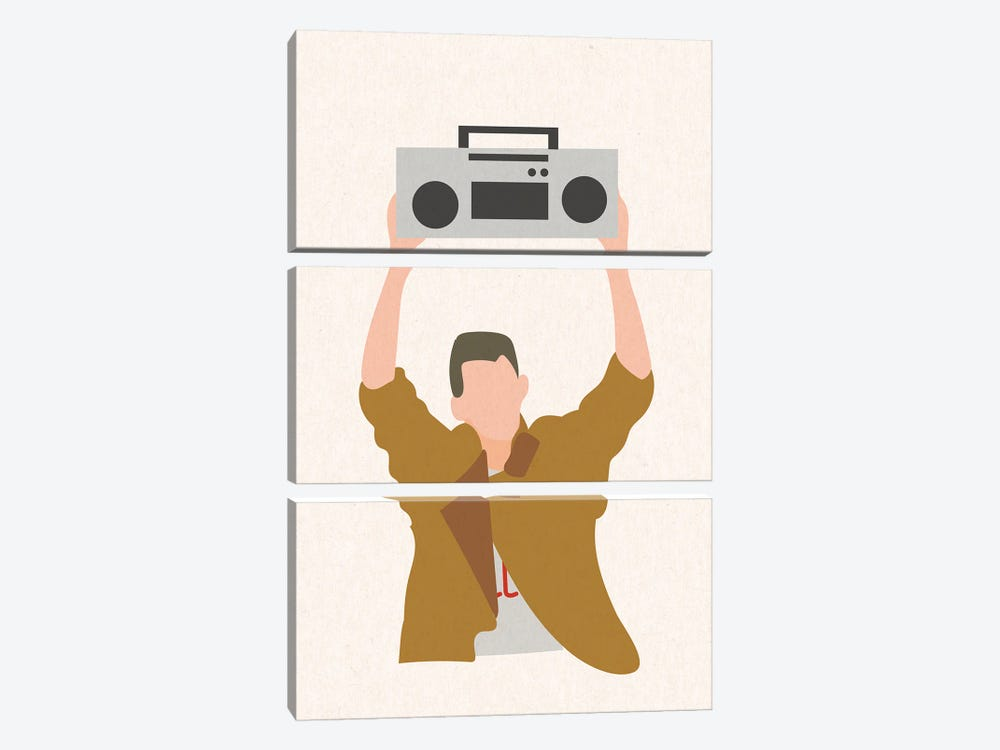 Say Anything Boombox by Mambo Art Studio 3-piece Canvas Art Print