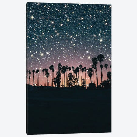 Sunset Sky Glitter Canvas Print #MSD54} by Mambo Art Studio Art Print
