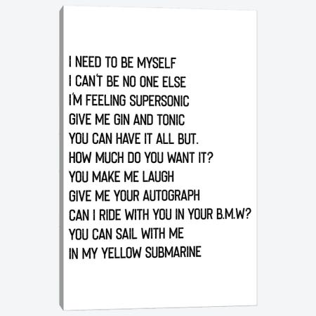 Supersonic Canvas Print #MSD55} by Mambo Art Studio Art Print