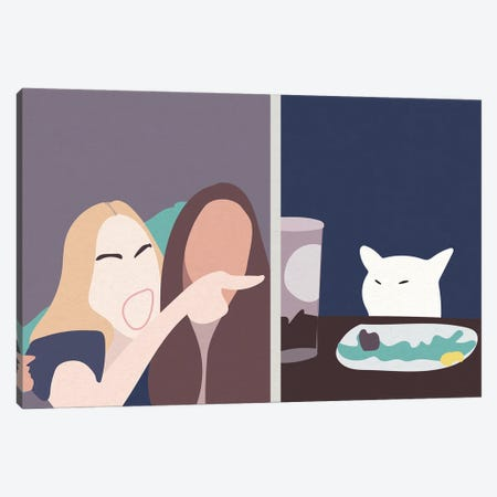 Taylor and Smudge The Cat Meme Canvas Print #MSD56} by Mambo Art Studio Canvas Print