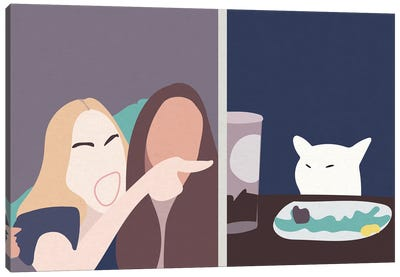 Taylor and Smudge The Cat Meme Canvas Art Print