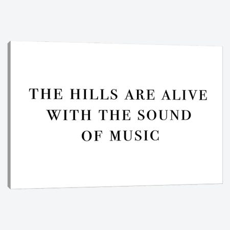 The Hills Are Alive With The Sound Of Music Landscape Canvas Print #MSD58} by Mambo Art Studio Canvas Artwork