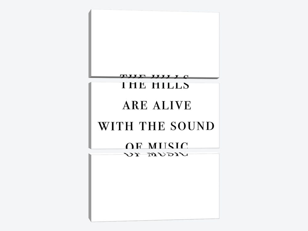 The Hills Are Alive With The Sound Of Music by Mambo Art Studio 3-piece Canvas Wall Art