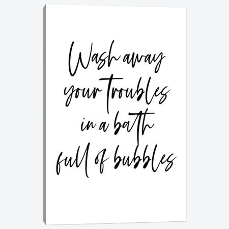 Wash away your troubles in a bath full of bubbles Canvas Print #MSD63} by Mambo Art Studio Art Print