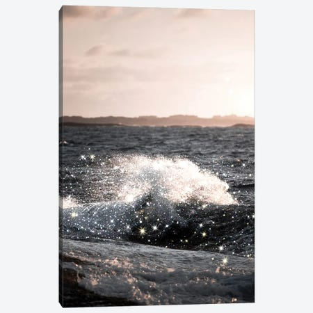 Wave Sunset Glitter Canvas Print #MSD64} by Mambo Art Studio Canvas Wall Art