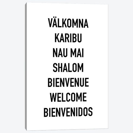 Welcome Languages Canvas Print #MSD67} by Mambo Art Studio Canvas Artwork